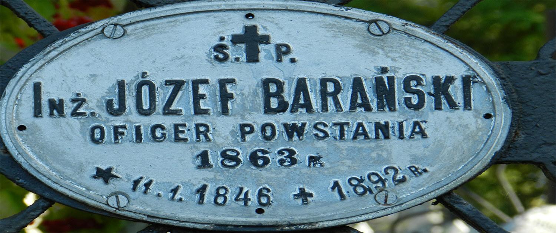 Cmentarz Łyczakowski grób Józef Barański pole numer 5.