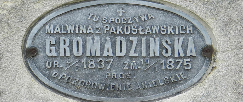 Cmentarz Łyczakowski grób Malwina Gromadzińska pole numer 14.