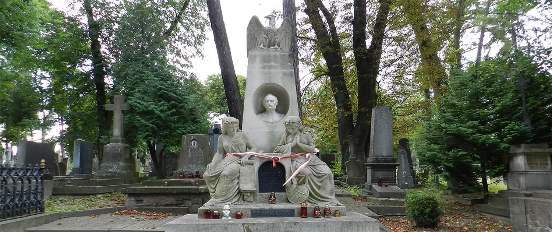 Cmentarz Łyczakowski grobowiec Karol Szajnocha pole numer 58.