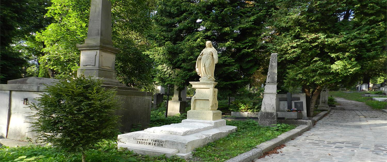Cmentarz Łyczakowski grobowiec rodziny Zrocowskich pole numer 10.