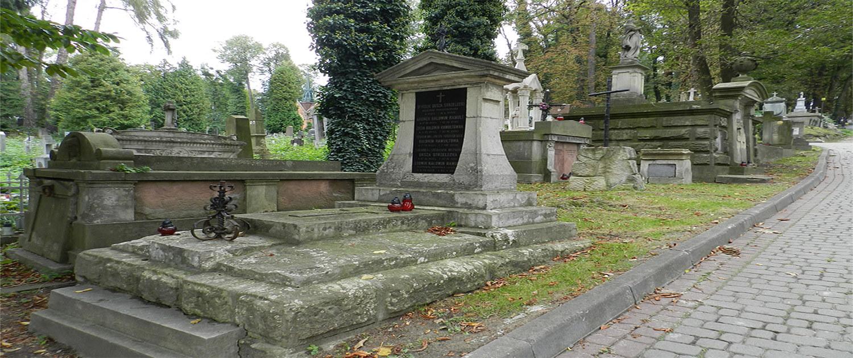 Cmentarz Łyczakowski grobowiec rodziny Oksa-Strzelecki, Baldwin-Ramult pole numer 14.