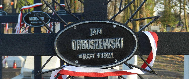 Górka powstańców styczniowych na Cmentarzu Łyczakowskim pole numer 40. Grób Jan Orbuszewski.