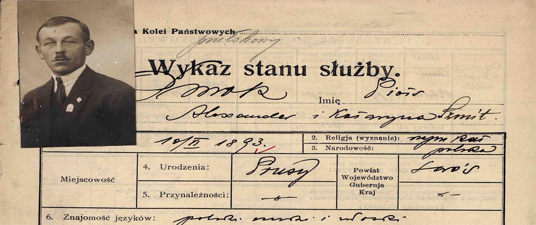 Kolejarze 1884-1939 r. dokumenty osobowe pracowników PKP
