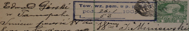 List napisany przez weterana powstania styczniowego 1863/64 r.
