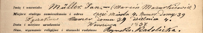 Lista powstańców styczniowych 1863 r., oświadczenia powstańców styczniowych