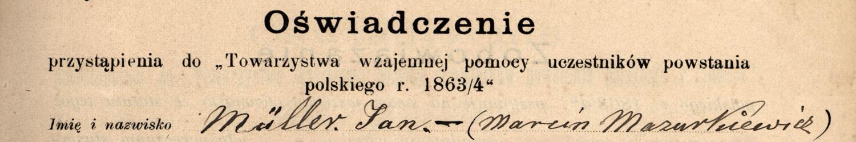 Towarzystwo weteranów powstania styczniowego 1863-1864 r. we Lwowie